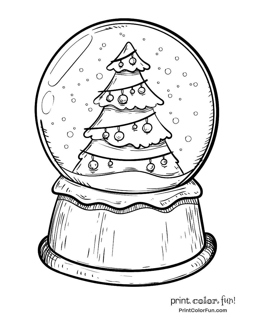 snow globe coloring page snow globe with a christmas tree coloring page print snow page coloring globe