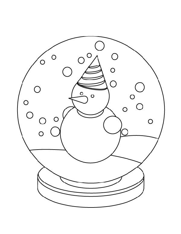 snow globe coloring page winter coloring and activity kids activity center snow snow globe coloring page