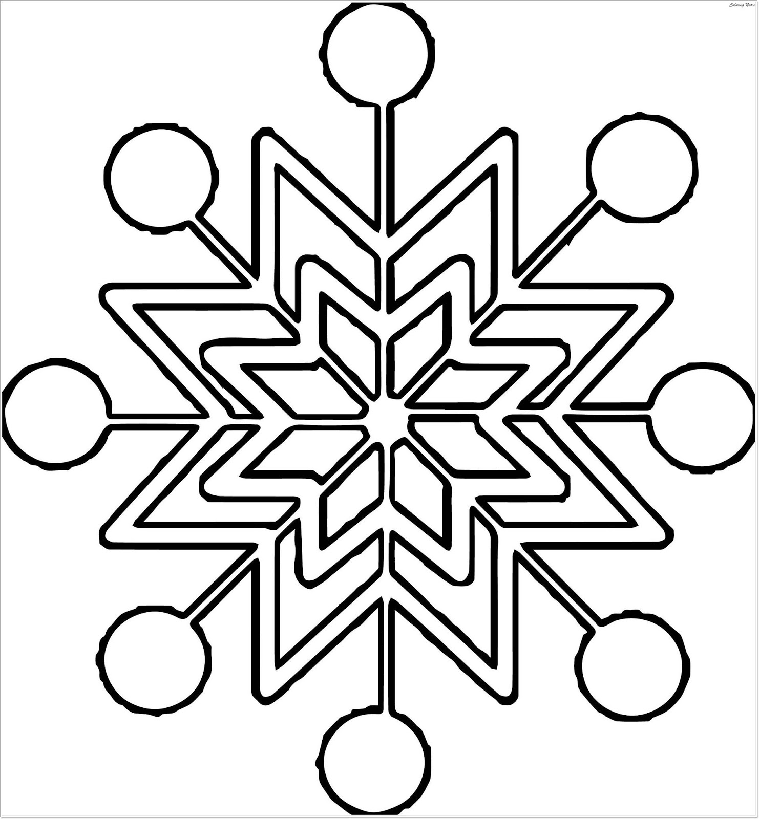 snowflake coloring page easy snowflake coloring pages at getdrawings free download coloring snowflake page