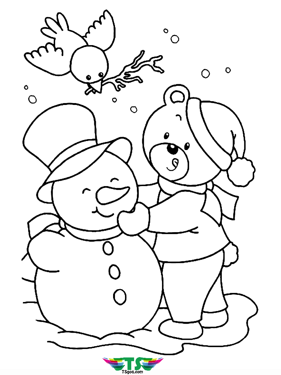 snowman for coloring free download snowman coloring page tsgoscom snowman for coloring