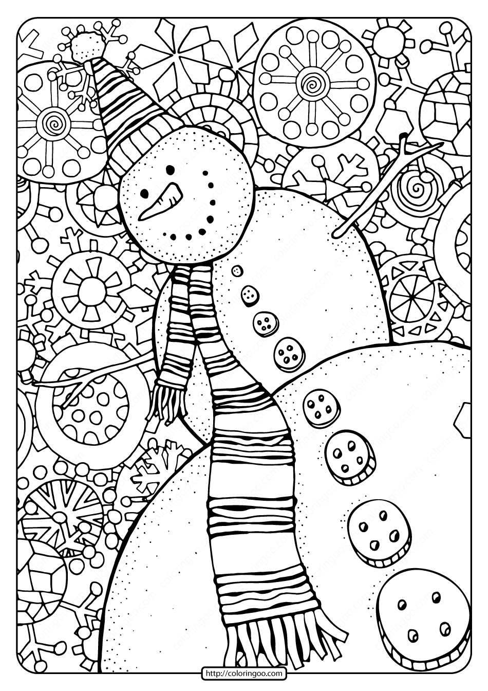 snowman for coloring happy snowman with snowflakes pdf coloring page snowman coloring for