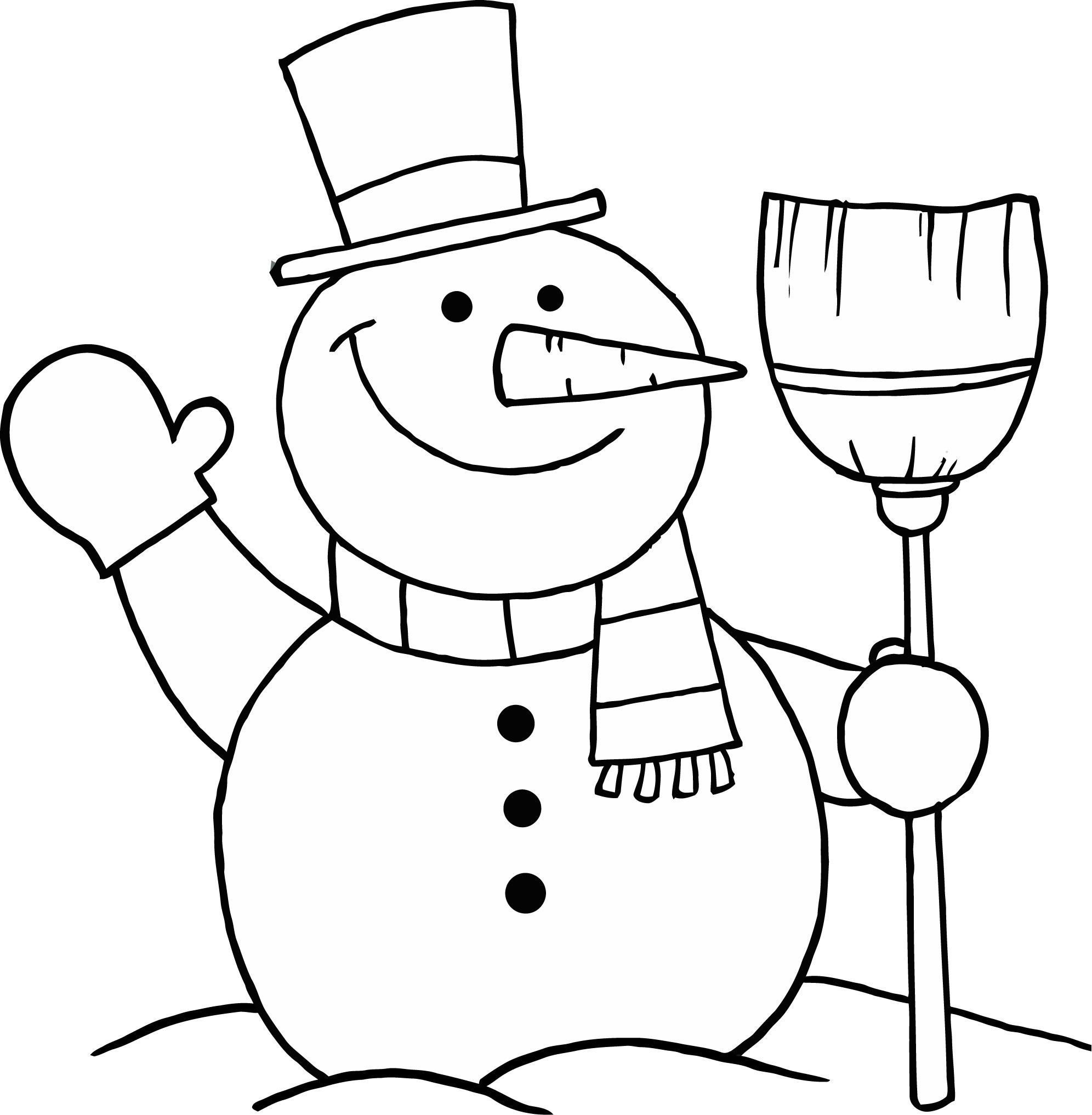 snowman for coloring simple snowman coloring pages at getcoloringscom free coloring snowman for