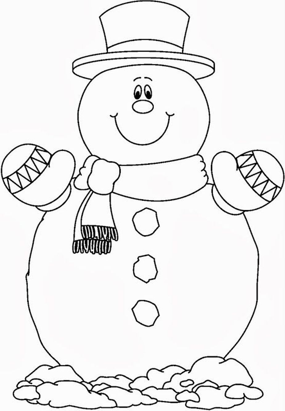 snowman for coloring snowman coloring pages at getcoloringscom free snowman coloring for