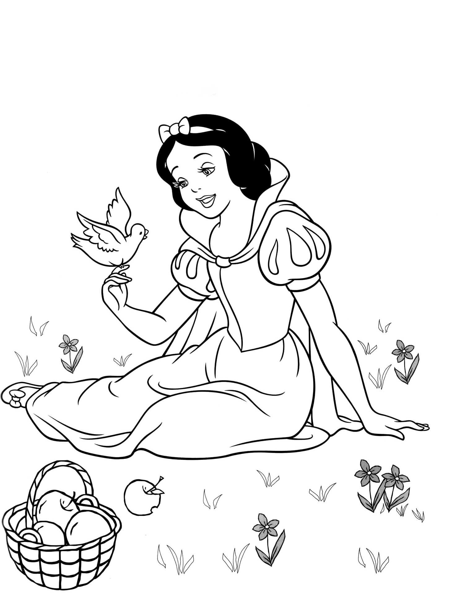 snowwhite coloring snow white coloring pages to download and print for free coloring snowwhite