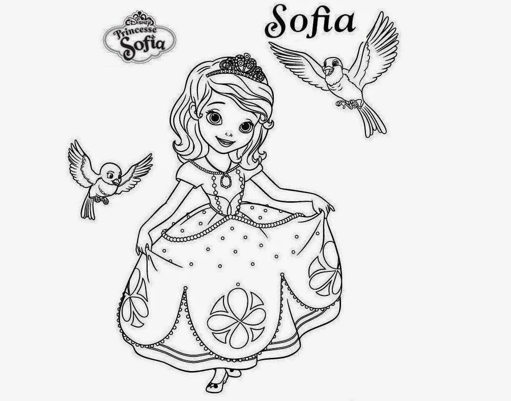 Sofia pictures to color