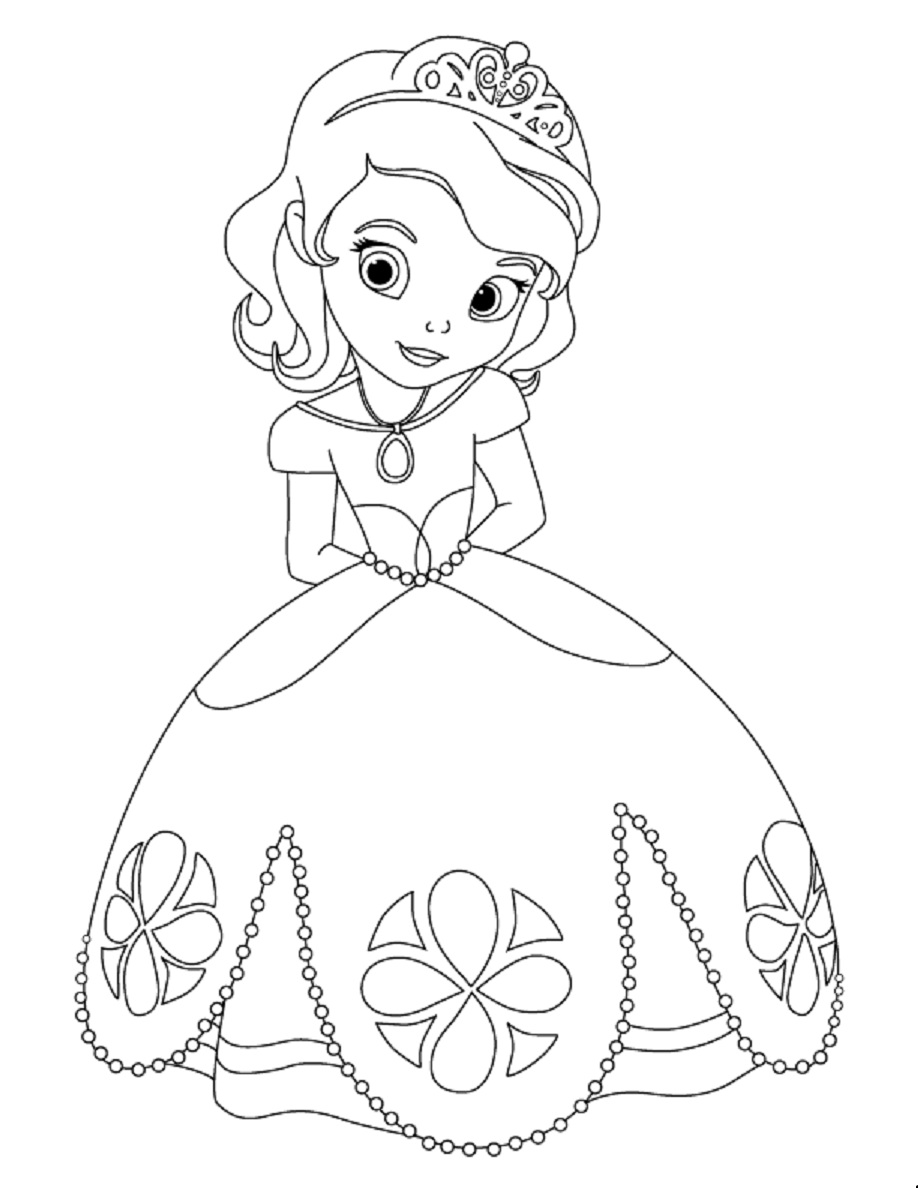 sofia pictures to color princess sofia coloring page for kids disney for girls sofia color to pictures