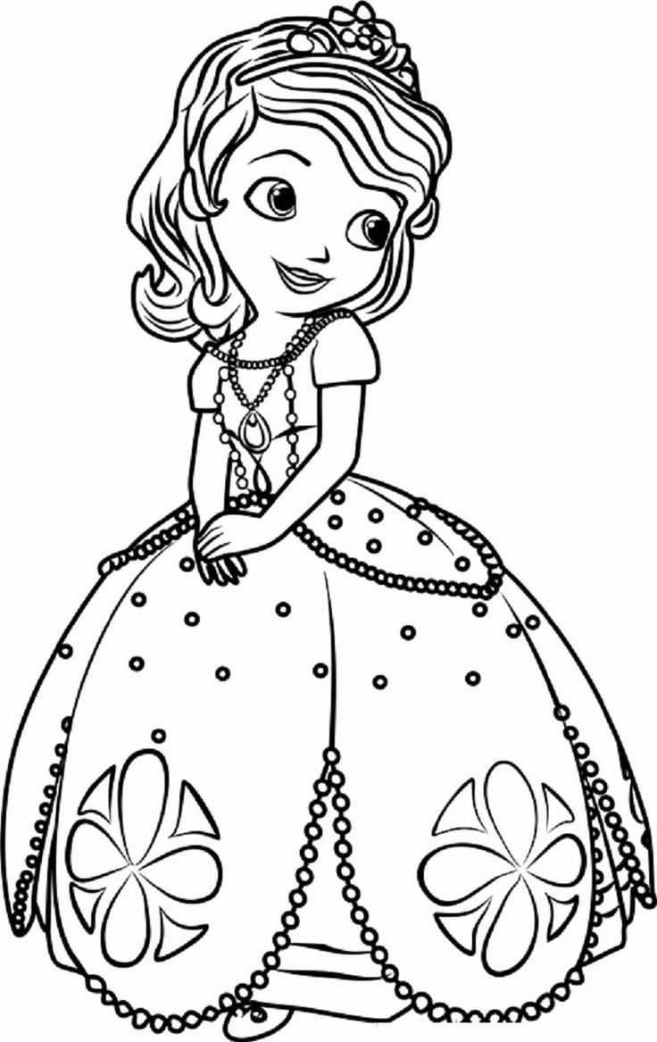 sofia pictures to color sofia the first coloring pages birthday printable sofia pictures color to