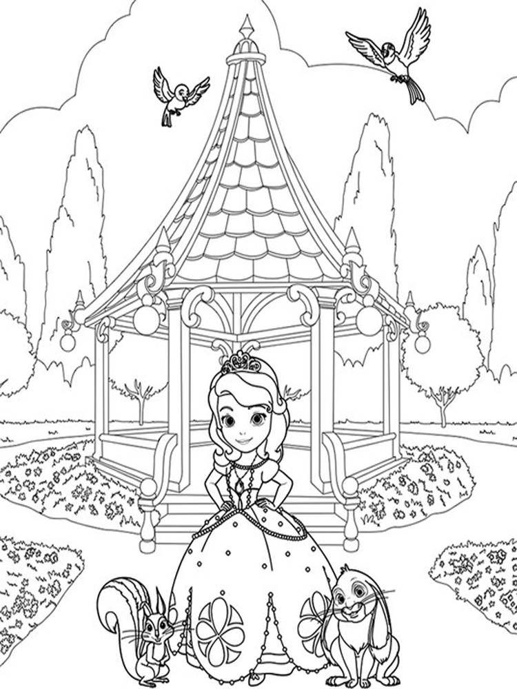 sofia the first free coloring pages clover coloring page free sofia the first coloring pages sofia pages coloring first the free