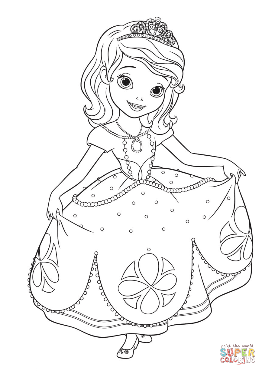 sofia the first free coloring pages sofia the first coloring pages birthday printable free pages coloring the first sofia