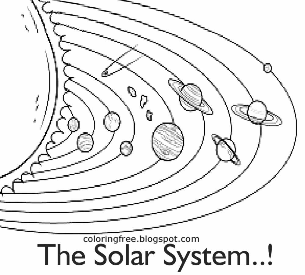solar system pictures to colour solar system coloring page colour solar system to pictures