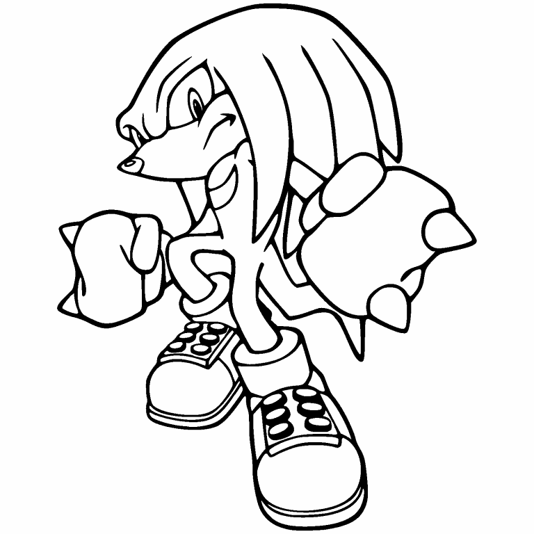 sonic knuckles coloring pages sonic coloring pages knuckles coloring home knuckles coloring sonic pages