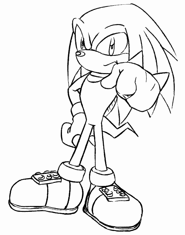 sonic knuckles coloring pages sonic coloring pages knuckles coloring home pages coloring knuckles sonic