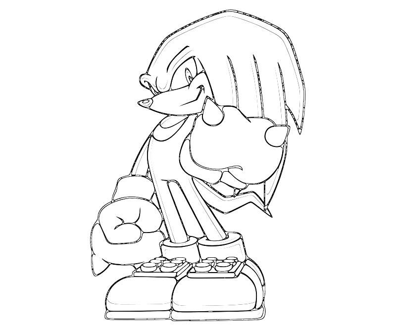 sonic knuckles coloring pages sonic coloring pages knuckles pages knuckles sonic coloring