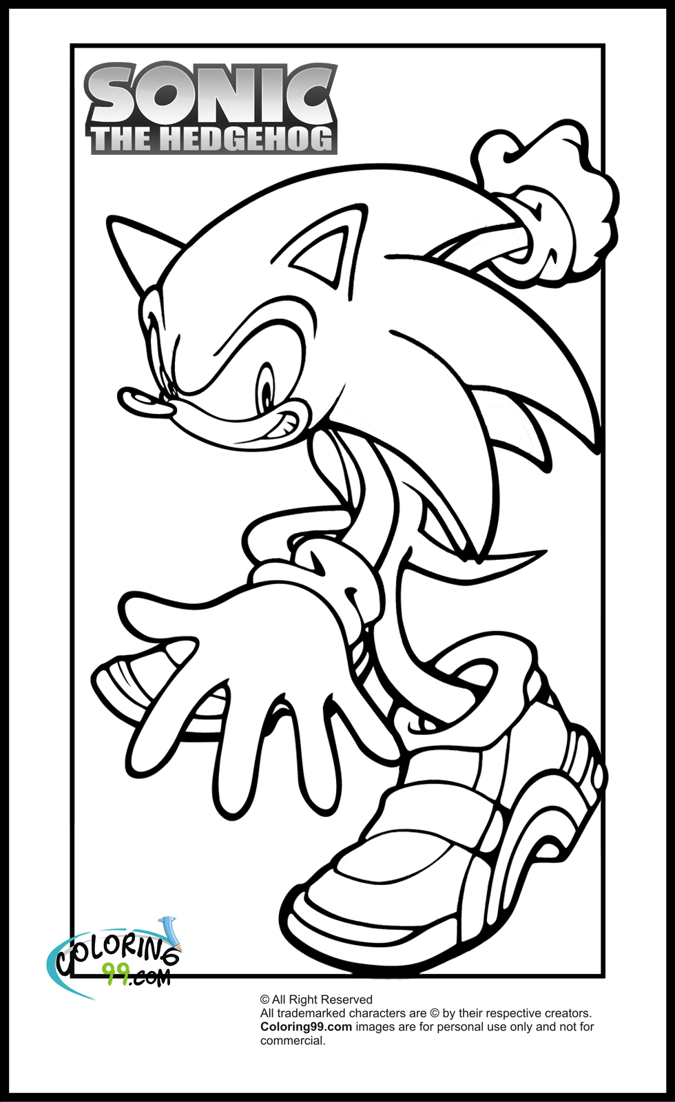 sonic printable sonic the hedgehog coloring pages to download and print sonic printable