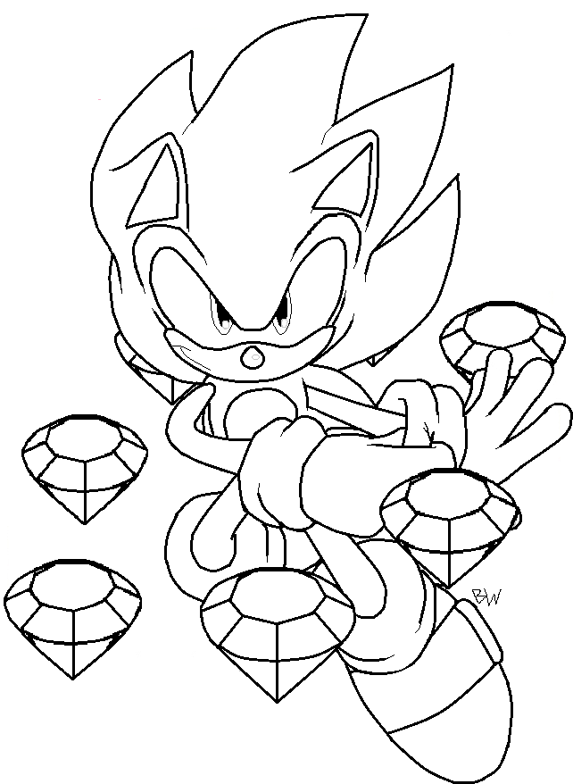sonic printable super sonic coloring pages to download and print for free printable sonic