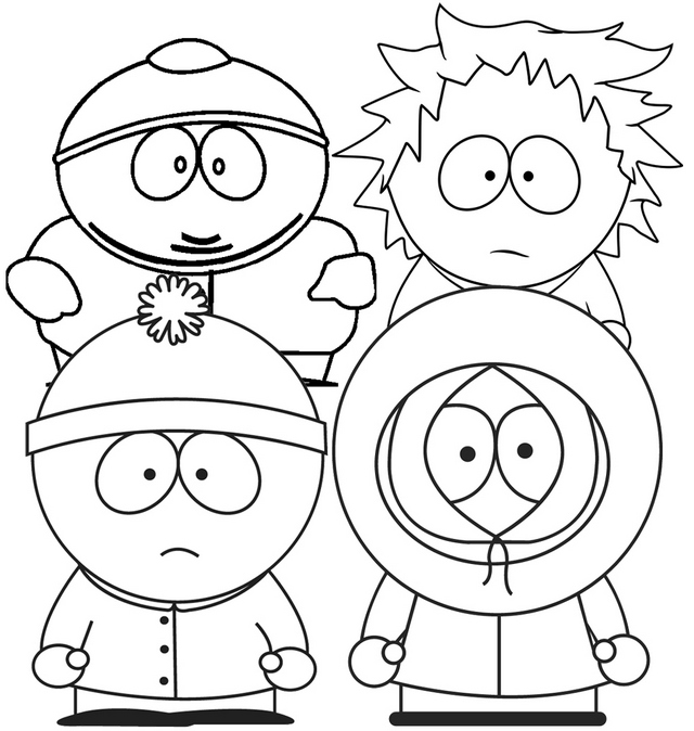 south park coloring pages coloring pages south park picture 5 park pages south coloring