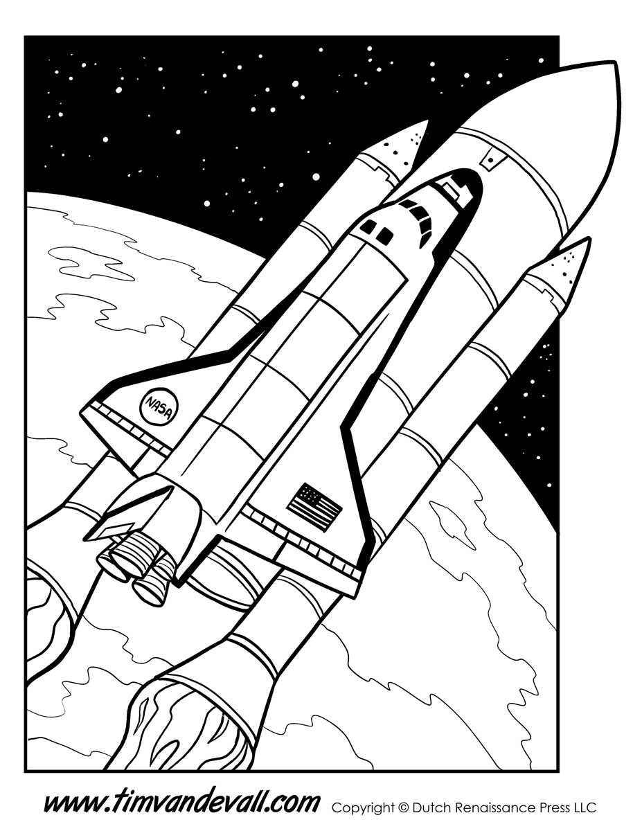 space printable coloring pages space shuttle coloring page tim39s printables pages space printable coloring