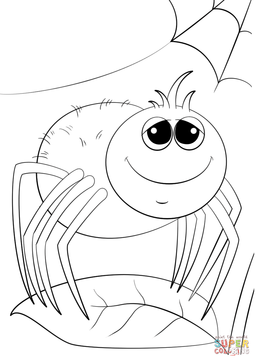 spider coloring book cartoon spider drawing at getdrawings free download spider book coloring