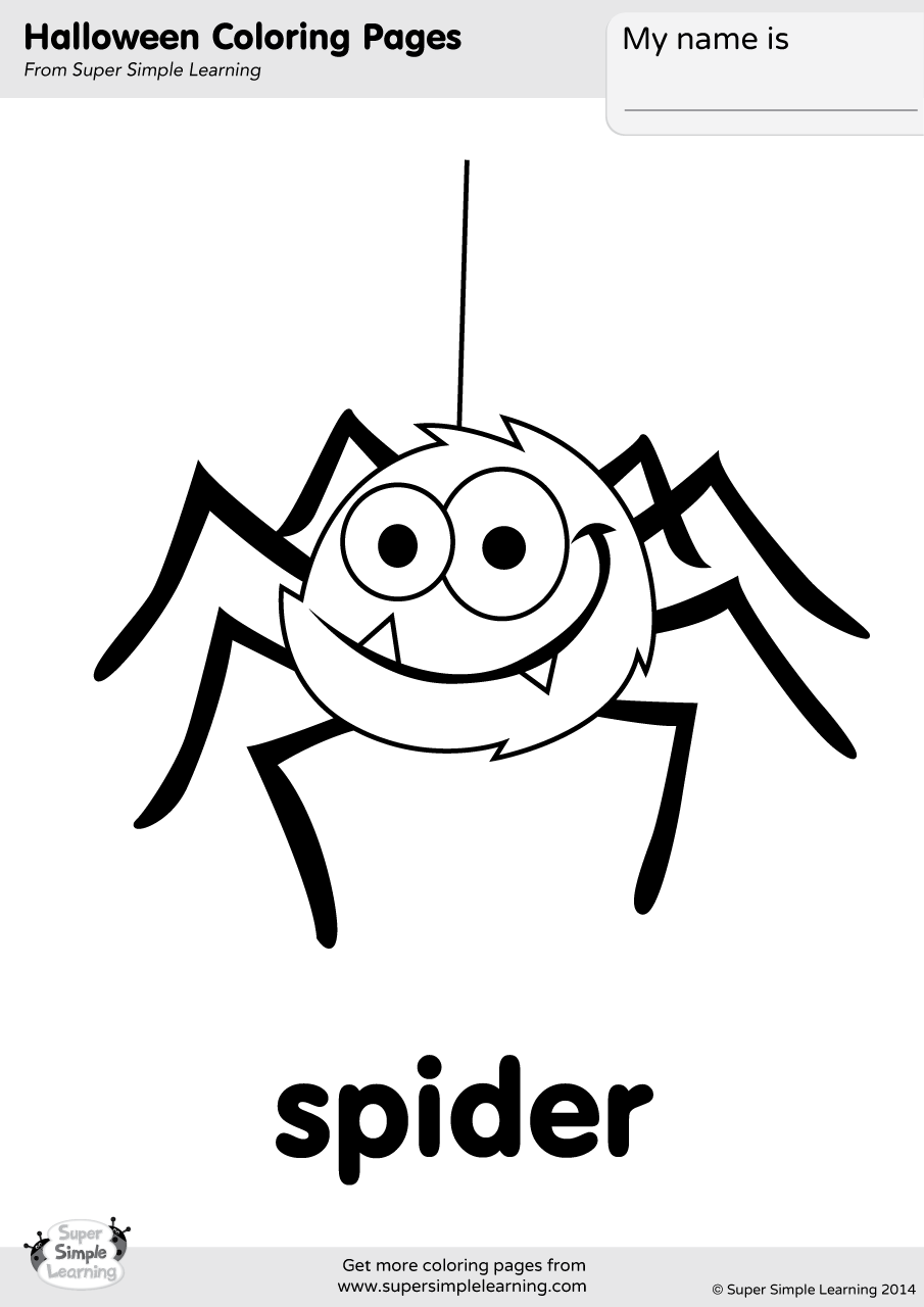 spider coloring book spider coloring page super simple coloring spider book