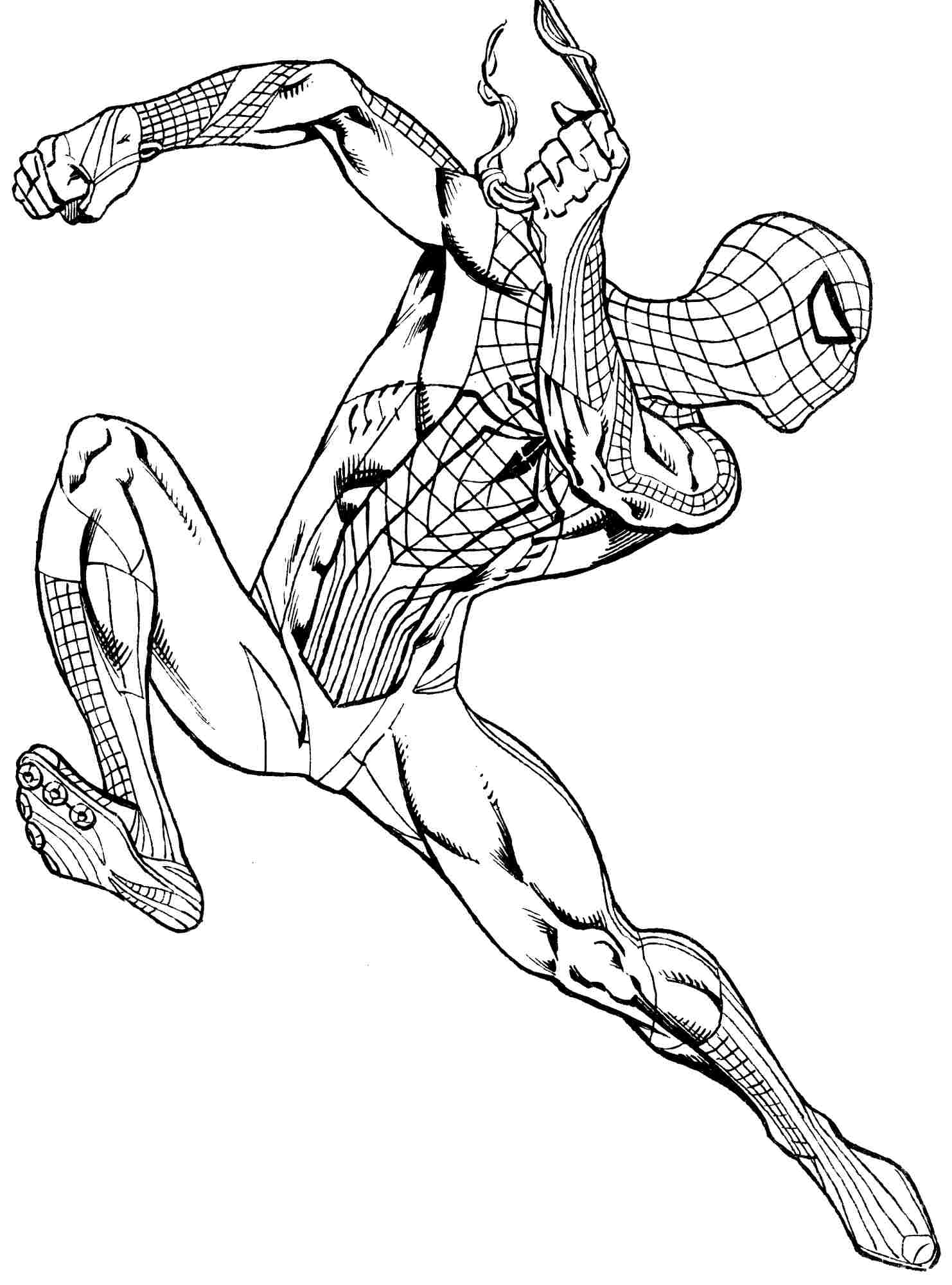 spider man coloring spiderman coloring pages free download on clipartmag man spider coloring