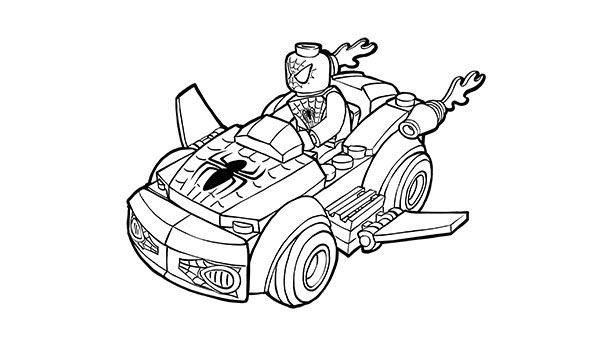 spiderman car coloring pages high quality spiderman chasing robbers in car to print for coloring spiderman car pages