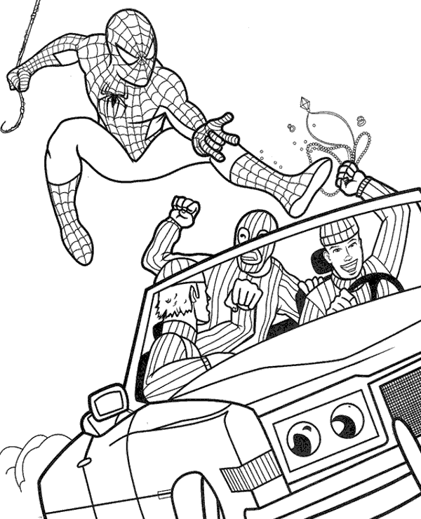 spiderman car coloring pages spiderman car coloring pages at getcoloringscom free coloring spiderman car pages
