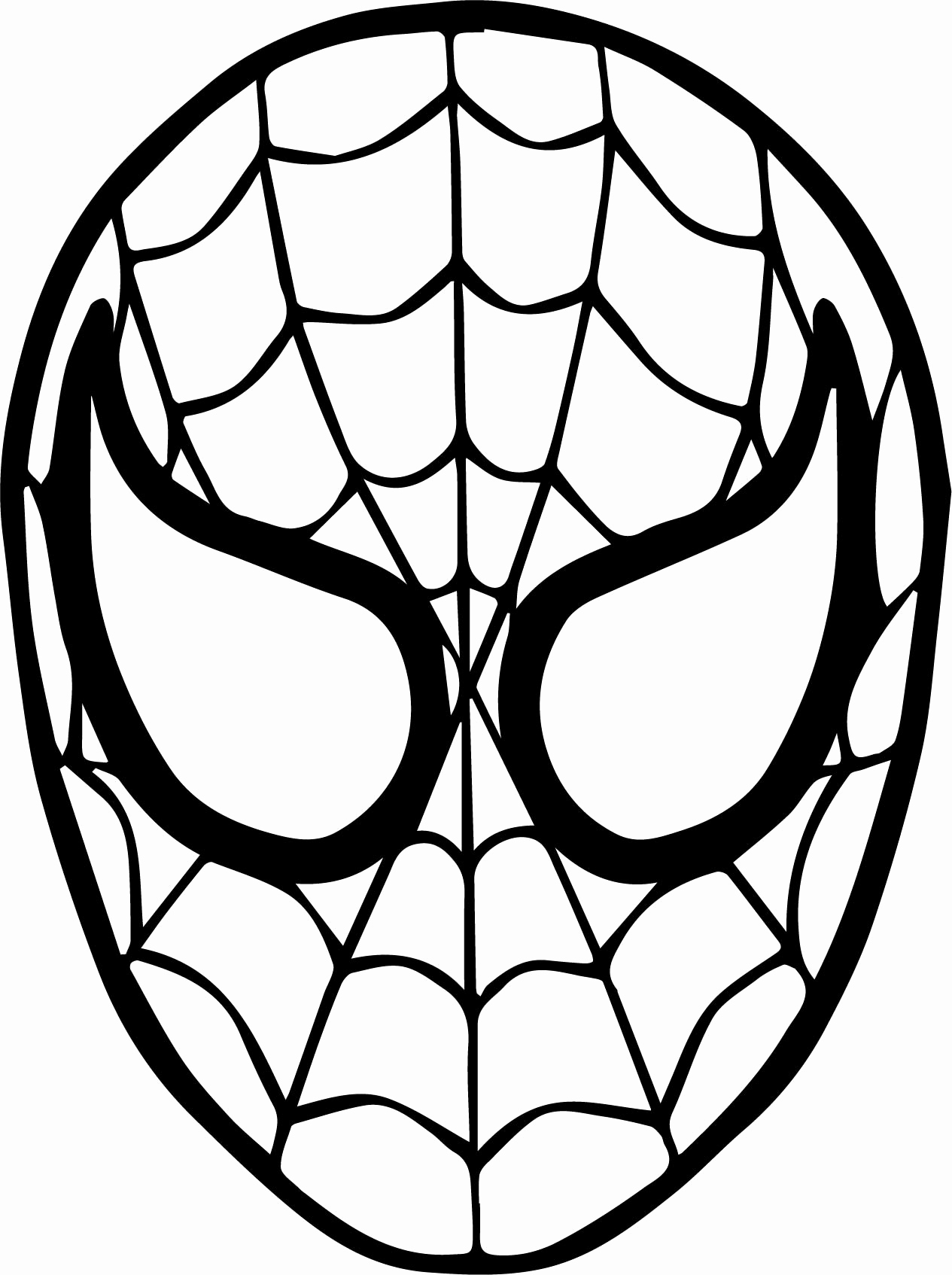 spiderman mask coloring spiderman drawing pages at paintingvalleycom explore mask coloring spiderman