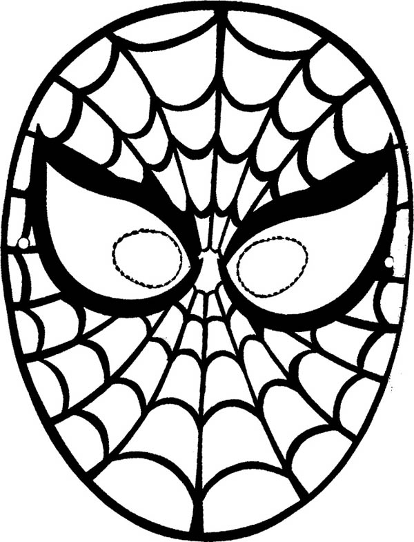 spiderman mask coloring spiderman face drawing free download on clipartmag coloring spiderman mask