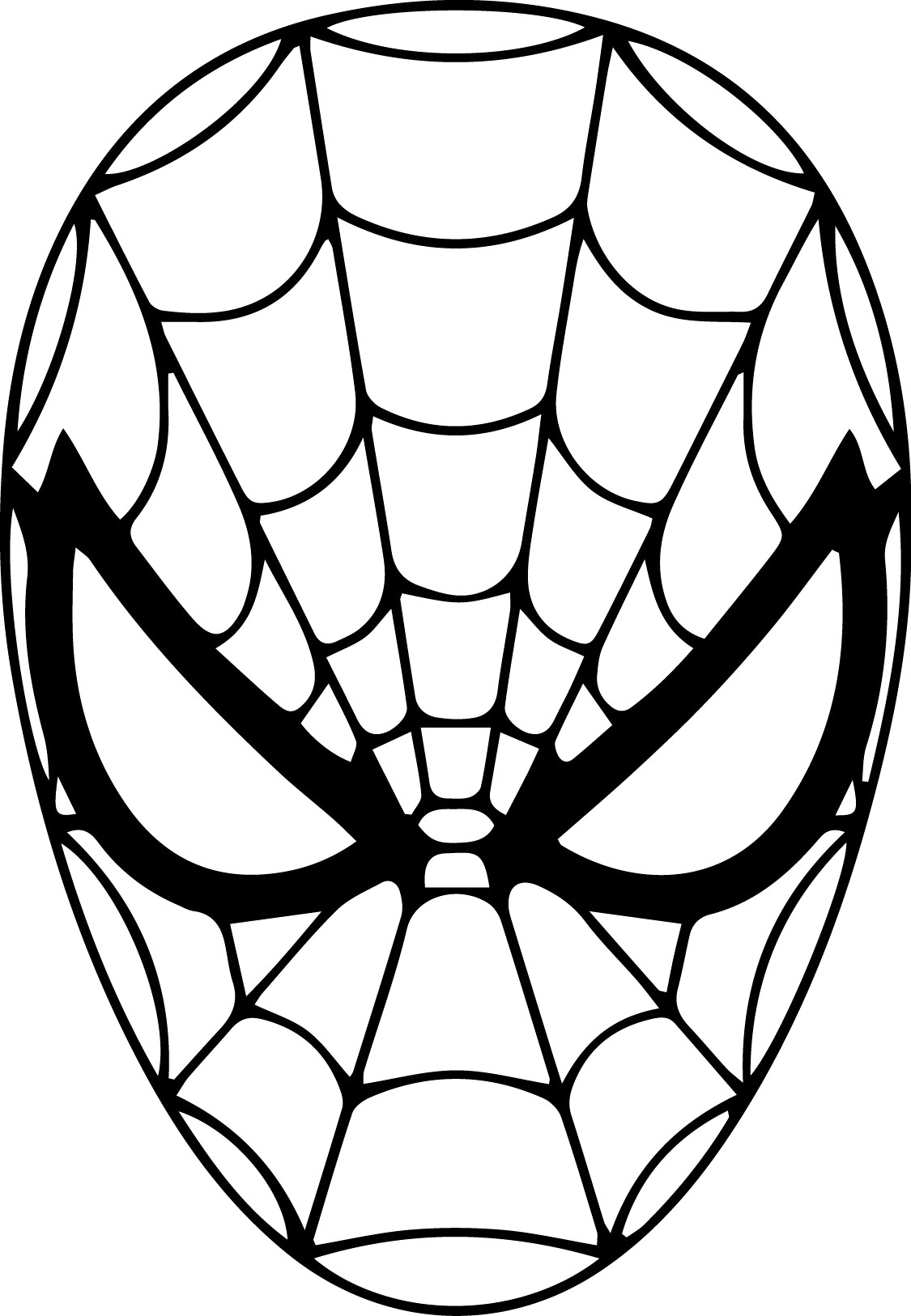 spiderman mask coloring spiderman mask coloring page at getdrawings free download mask coloring spiderman