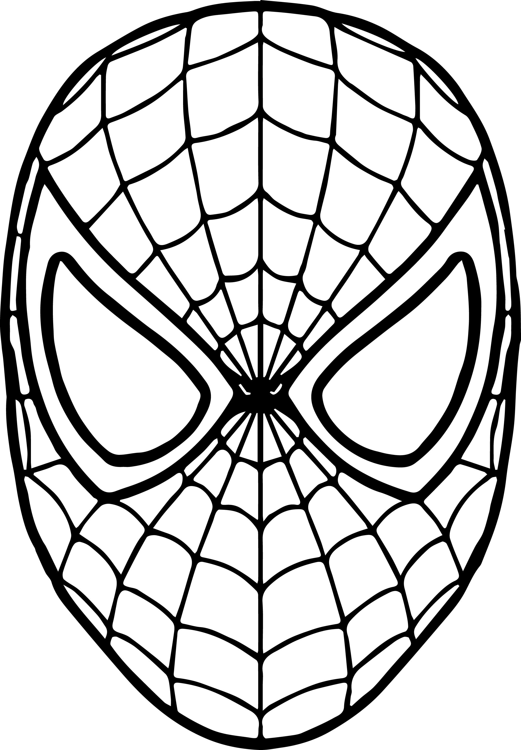 Spiderman mask coloring