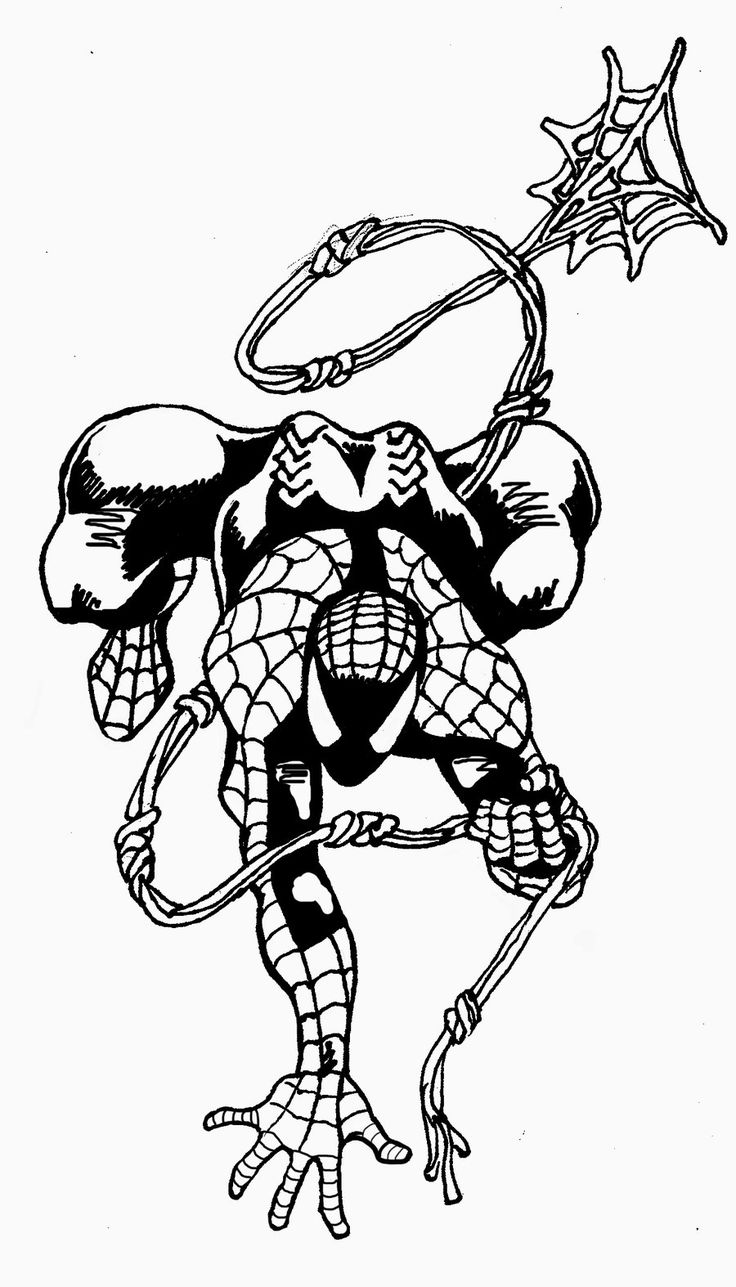 spiderman outline spider man drawing at getdrawings free download spiderman outline