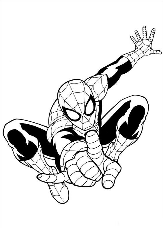 spiderman outline spiderman coloring page download for free print outline spiderman
