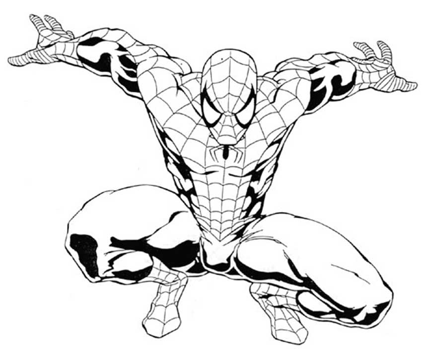 spiderman outline spiderman coloring page spiderman drawingcoloring outline spiderman