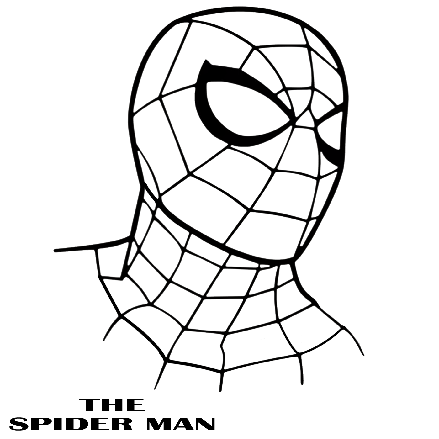 spiderman outline spiderman face drawing at getdrawings free download spiderman outline