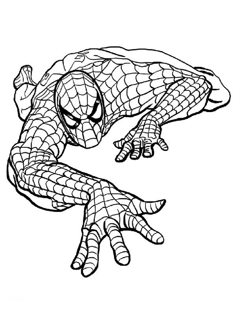 spiderman outline spiderman outline drawing at getdrawings free download outline spiderman 1 4