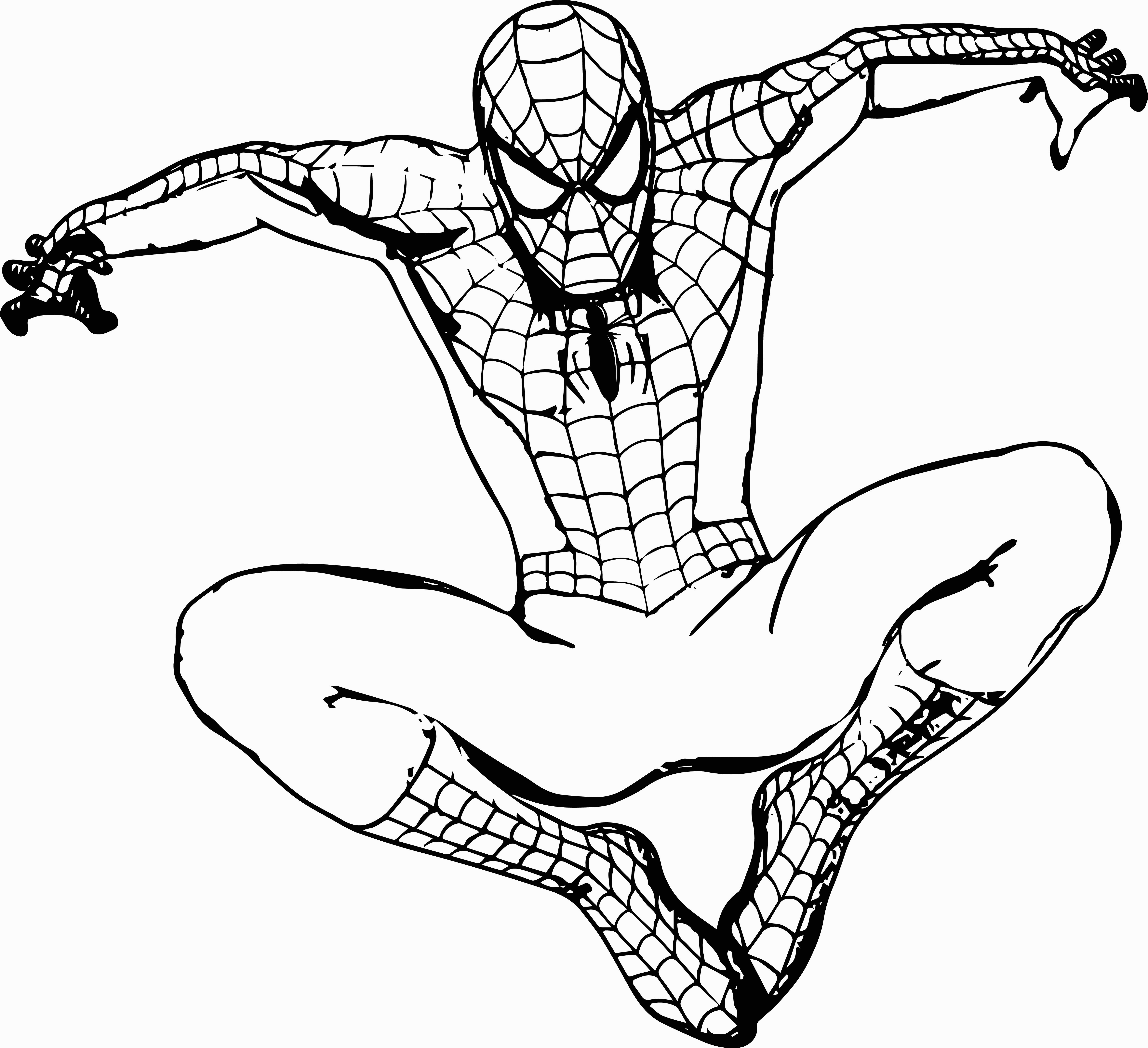 spiderman outline spiderman outline drawing at getdrawings free download spiderman outline