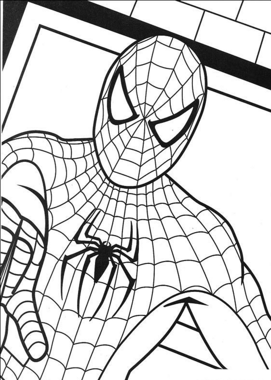 spiderman outline spiderman outline drawing at getdrawings free download spiderman outline 1 1