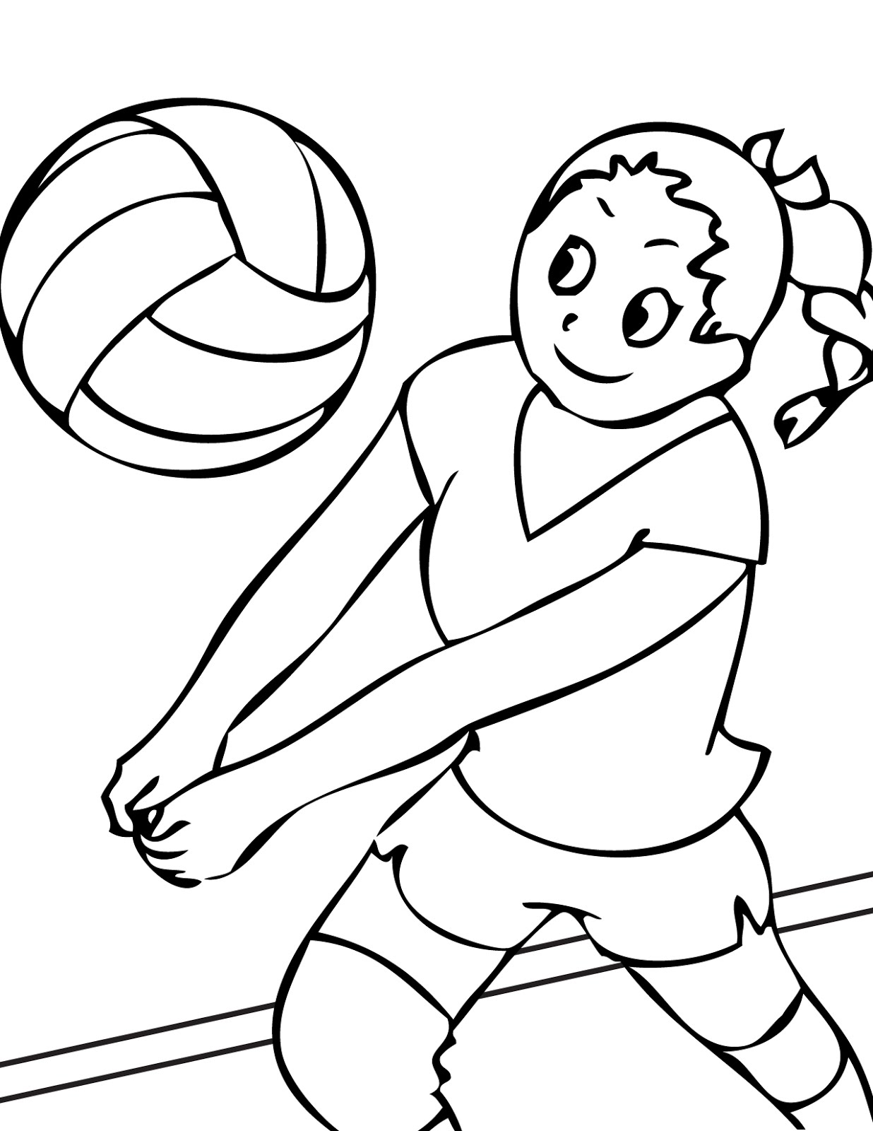 Sports colouring pictures