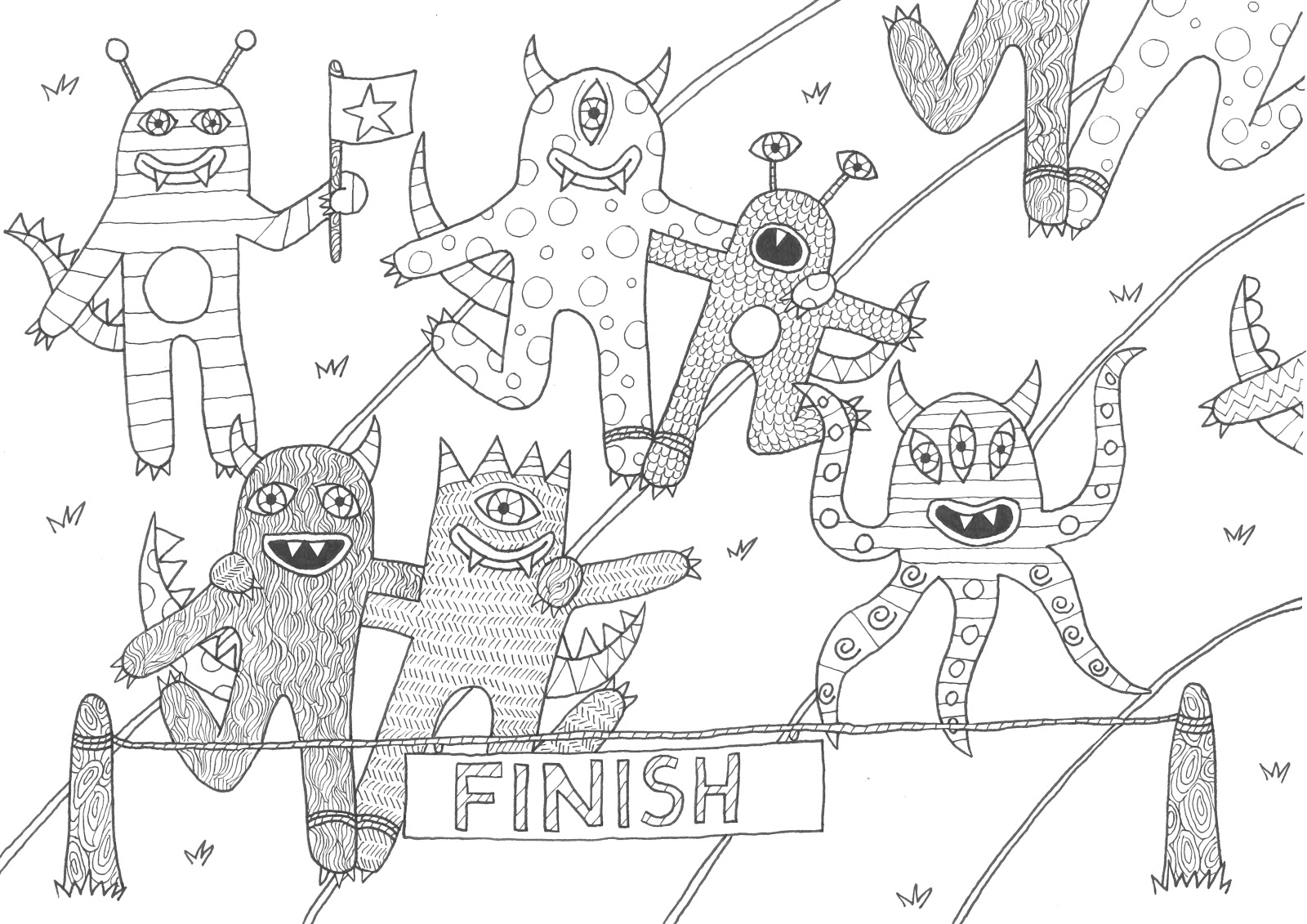 sports day colouring girls sprint colouring page day sports colouring
