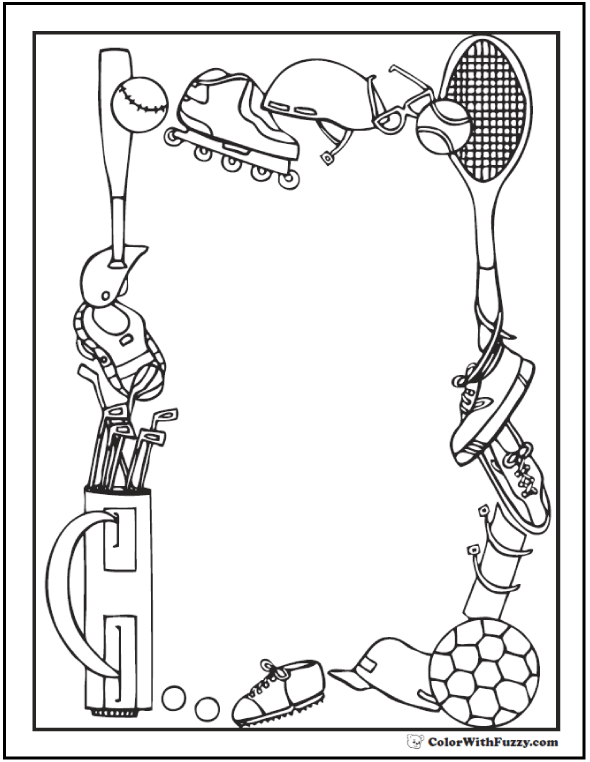sports day colouring kids playing sports clipart black and white 20 free day colouring sports