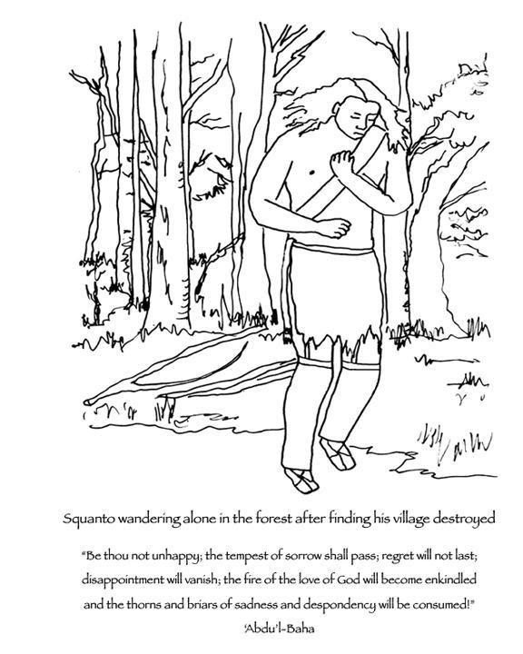 squanto coloring page manyhoopscom squanto coloring book for baha39i children coloring page squanto