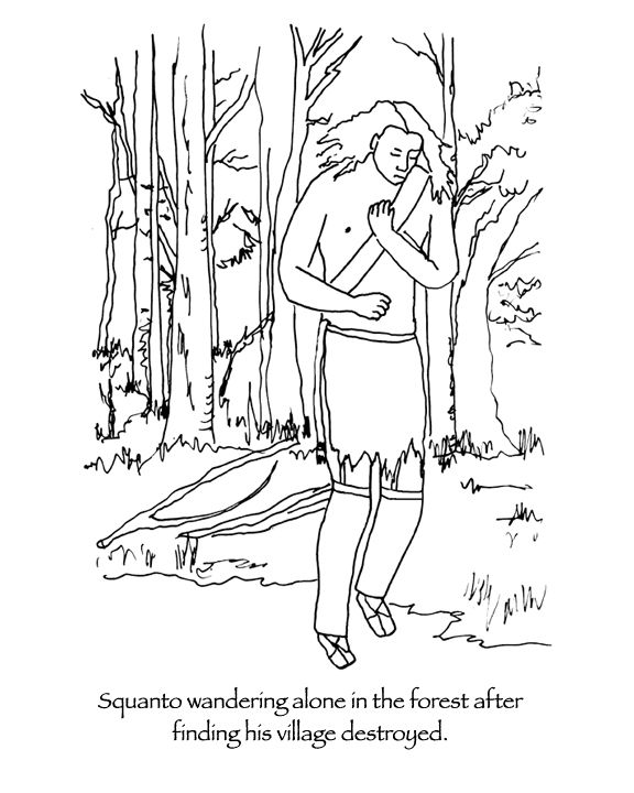 squanto coloring page pin on thanksgiving coloring pages page squanto coloring
