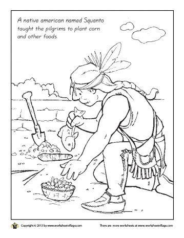 squanto coloring page the first thanksgiving coloring page sheets squanto squanto page coloring