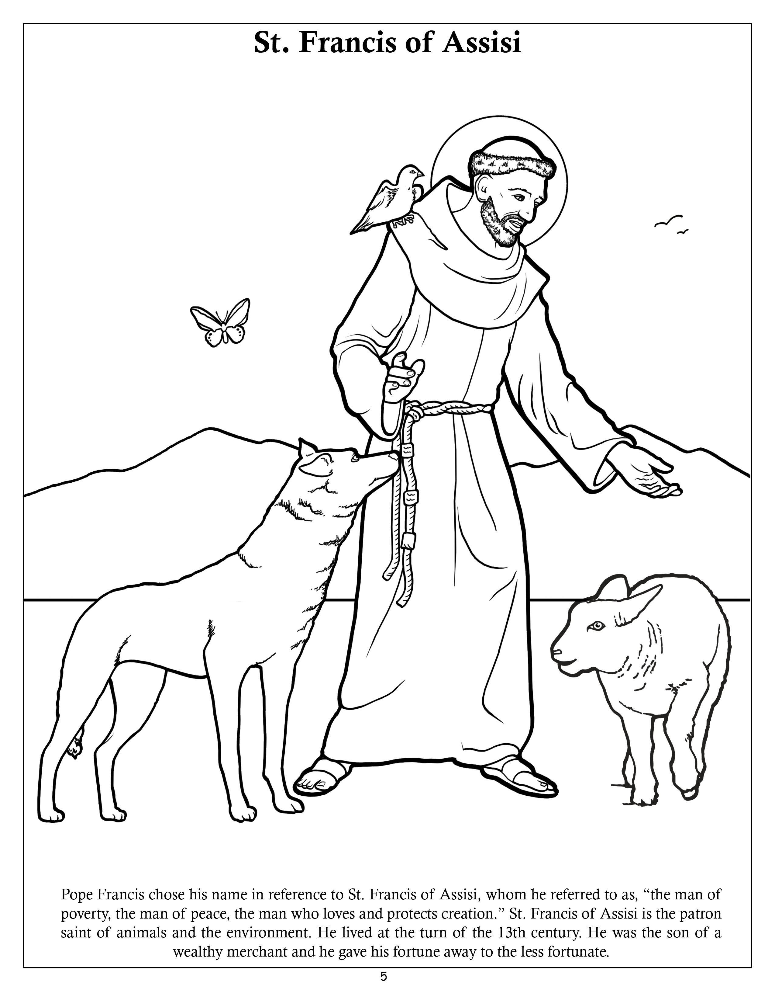 st francis of assisi coloring page 1960823395thumbjpg 9671200 saint francis prayer st francis page of coloring assisi