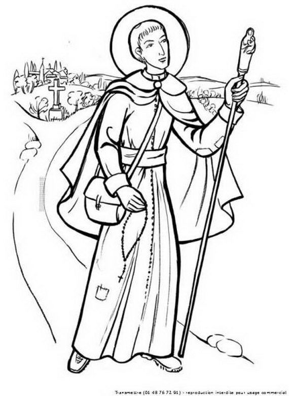 st francis of assisi coloring page saint francis of assisi coloring page from saints category st of assisi coloring francis page