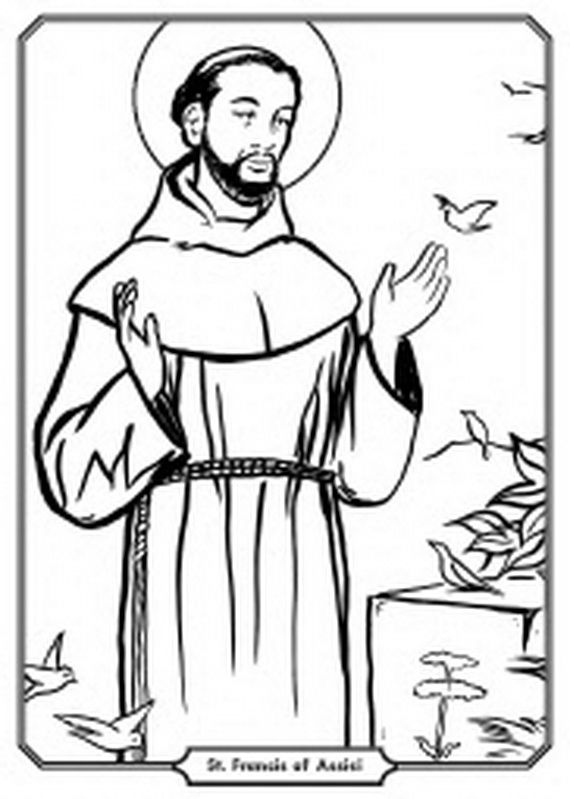 st francis of assisi coloring page saint francis of assisi coloring page thecatholickidcom assisi francis page st coloring of