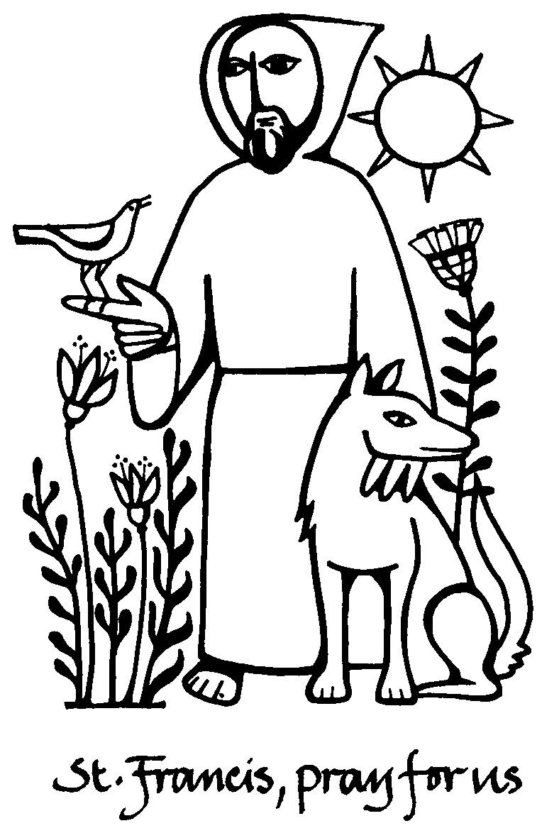st francis of assisi coloring page saints coloring pages printable catholic saints st francis assisi page coloring of