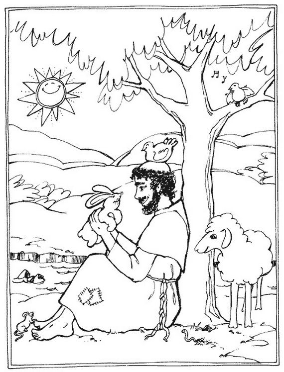 st francis of assisi coloring page st francis clipart 20 free cliparts download images on st coloring assisi of francis page