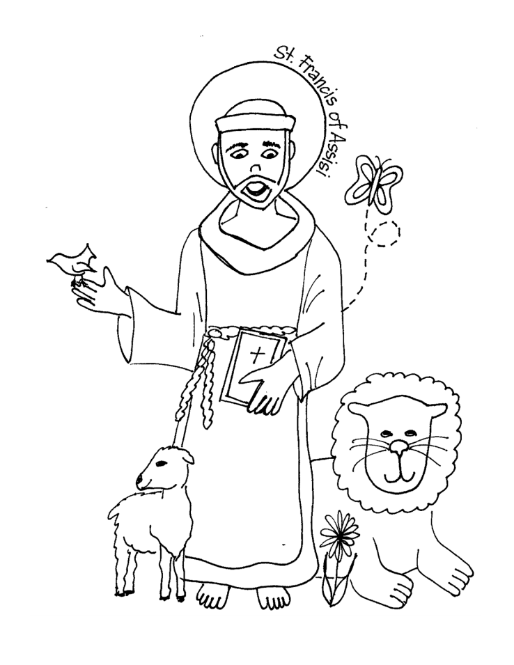 st francis of assisi coloring page st francis coloring page catholic education pinterest of coloring francis assisi page st