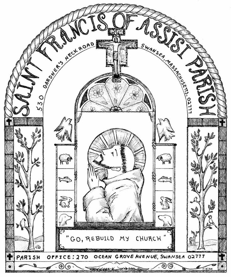 st francis of assisi coloring page st francis of assisi coloring page page assisi francis st coloring of